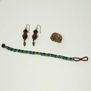 Jewelry - Bracelet, ring and earrings set.